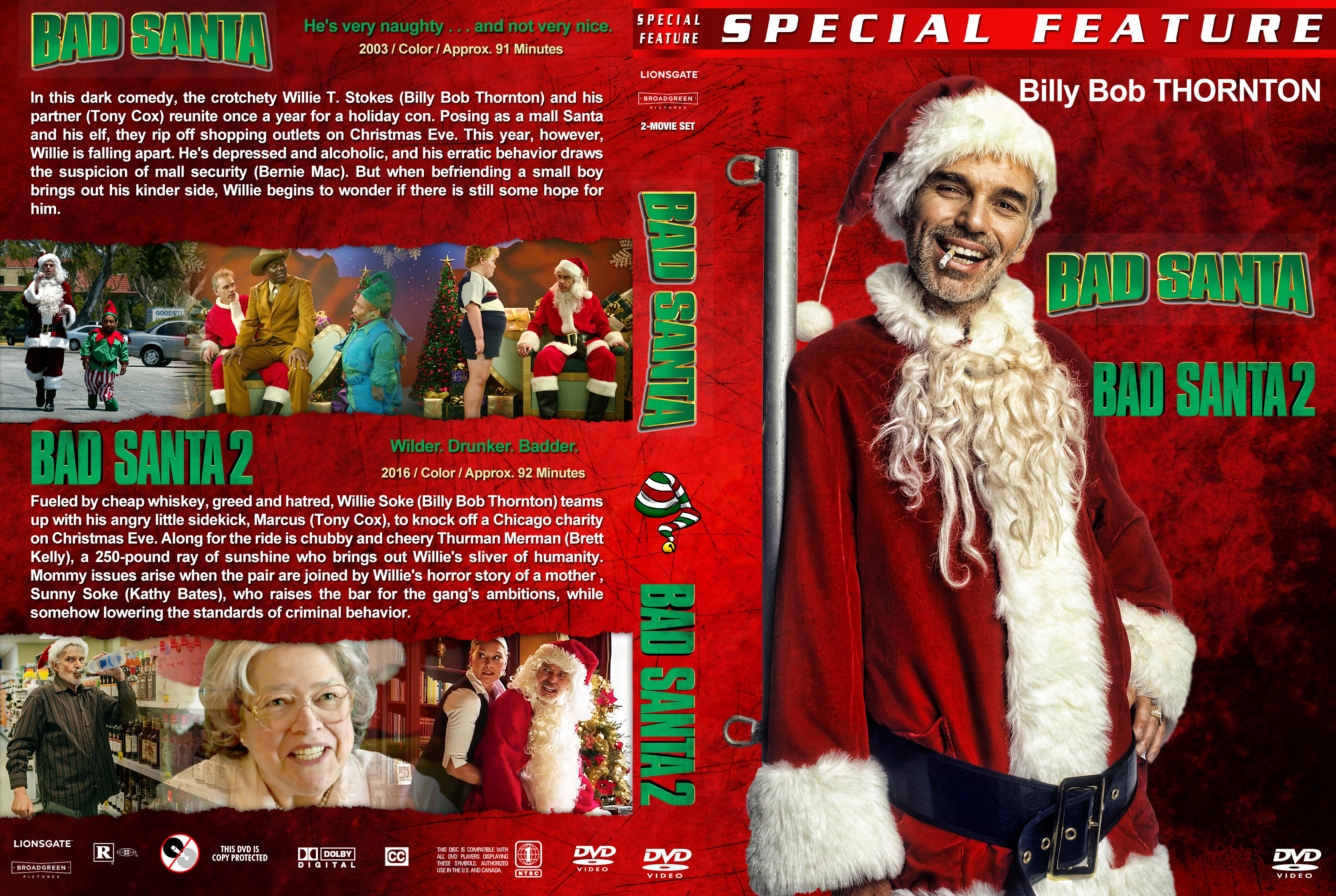 Bad Santa Collection 2003 2016 Covers Dvd Covers And Labels