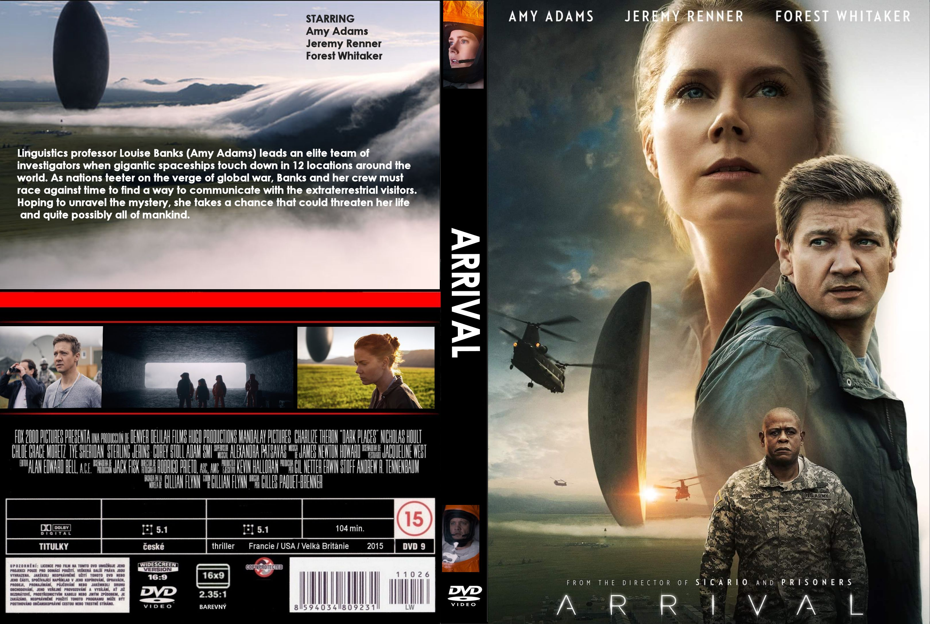 Arrival (2016) R0 CUSTOM Cover & label | Dvd Covers and Labels