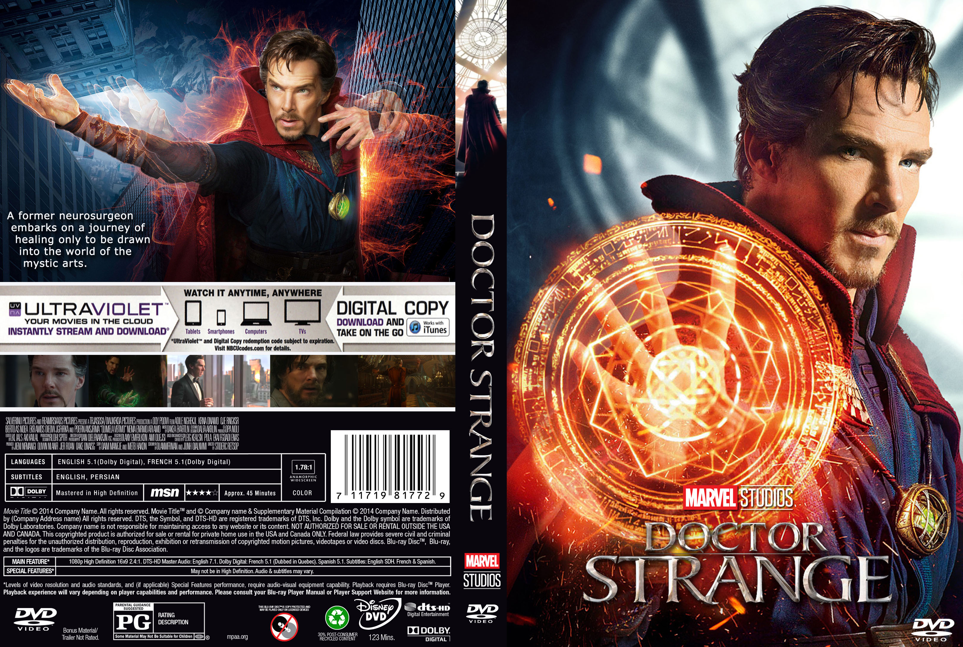 Doctor Strange (2016) R0 Custom DVD Cover | Dvd Covers and