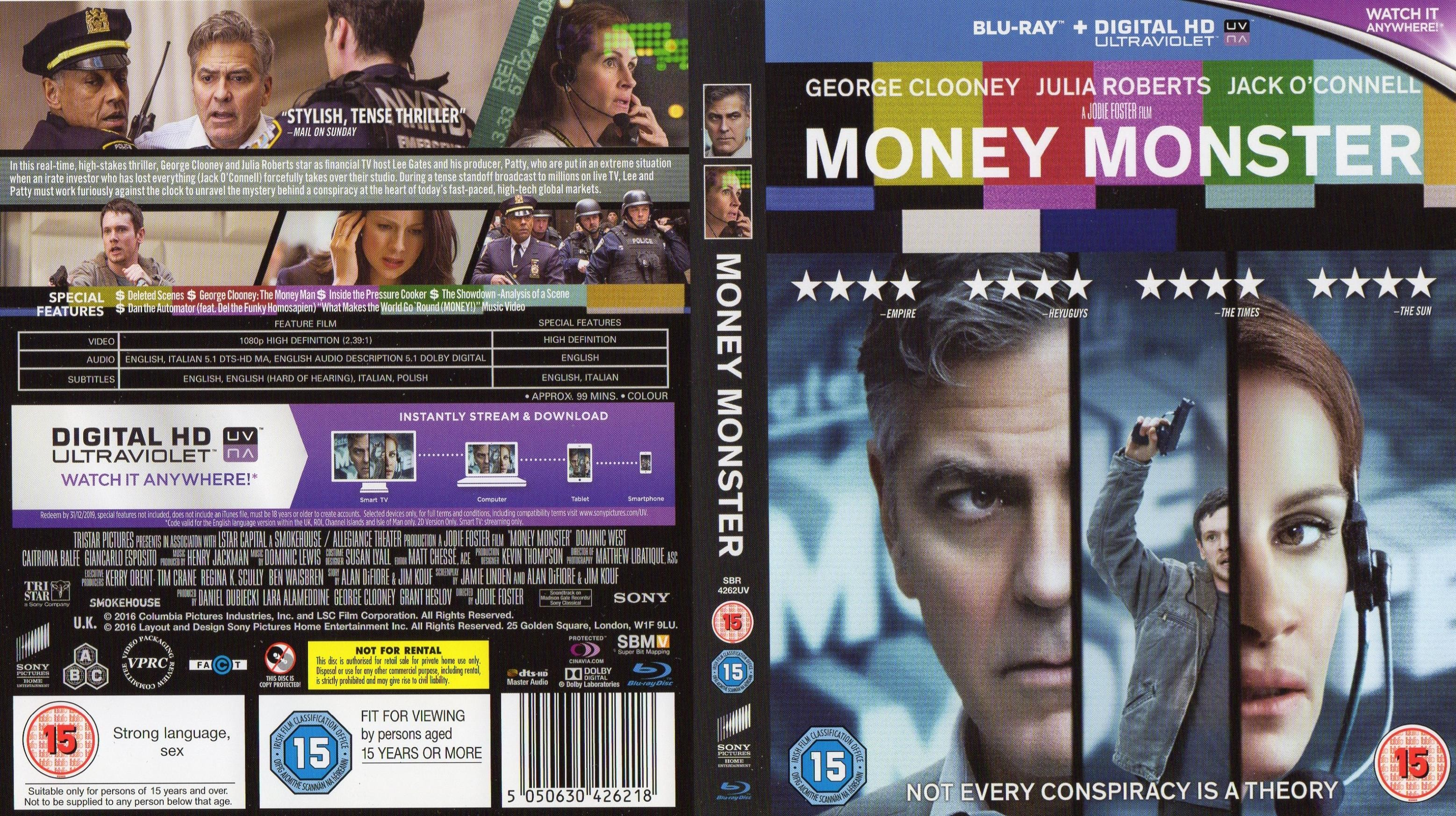 Money Monster (2016) R2 Blu-Ray Cover & Label | Dvd Covers ...