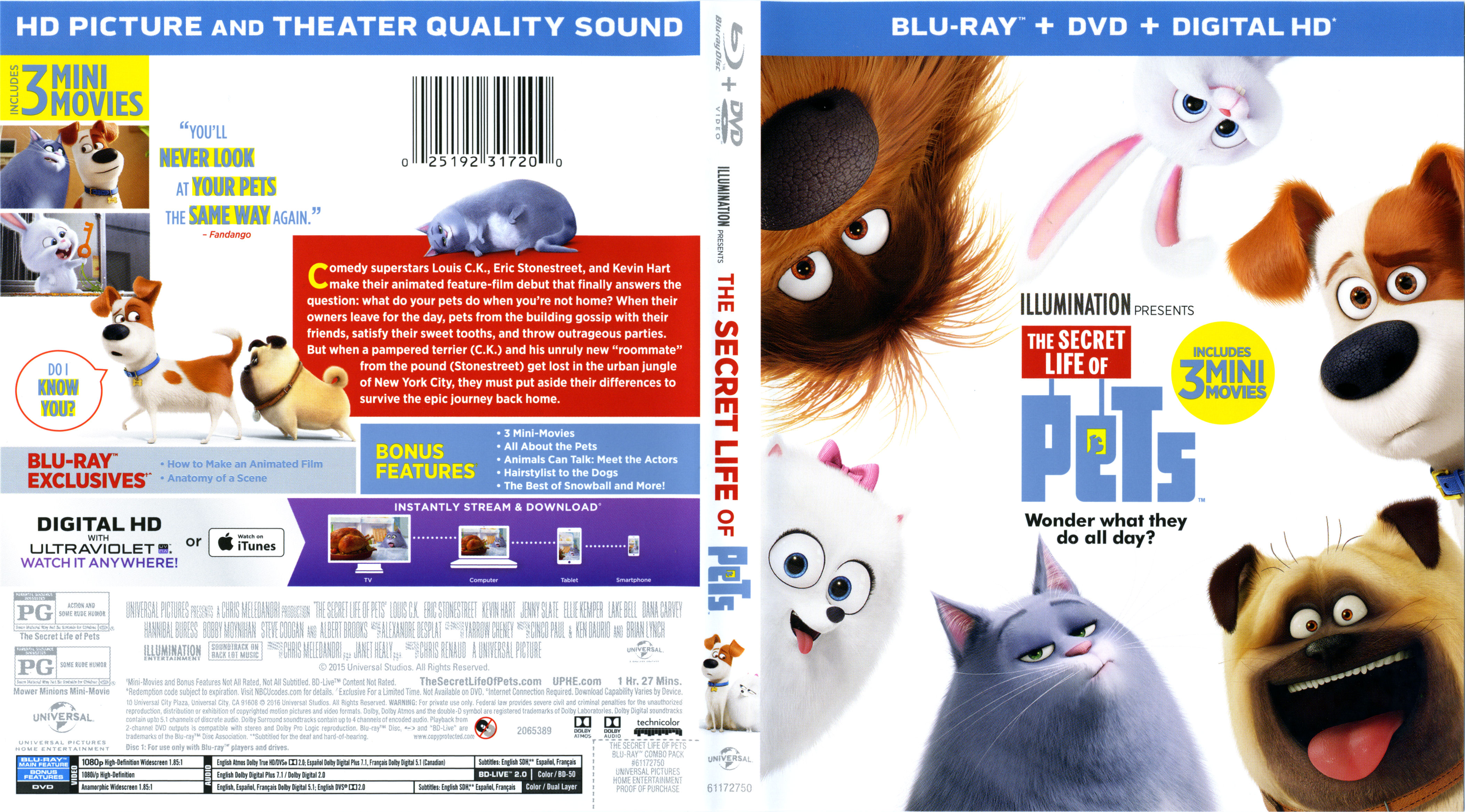 The Secret Life Of Pets 2016 Blu Ray Cover Labels Dvd Covers And Labels