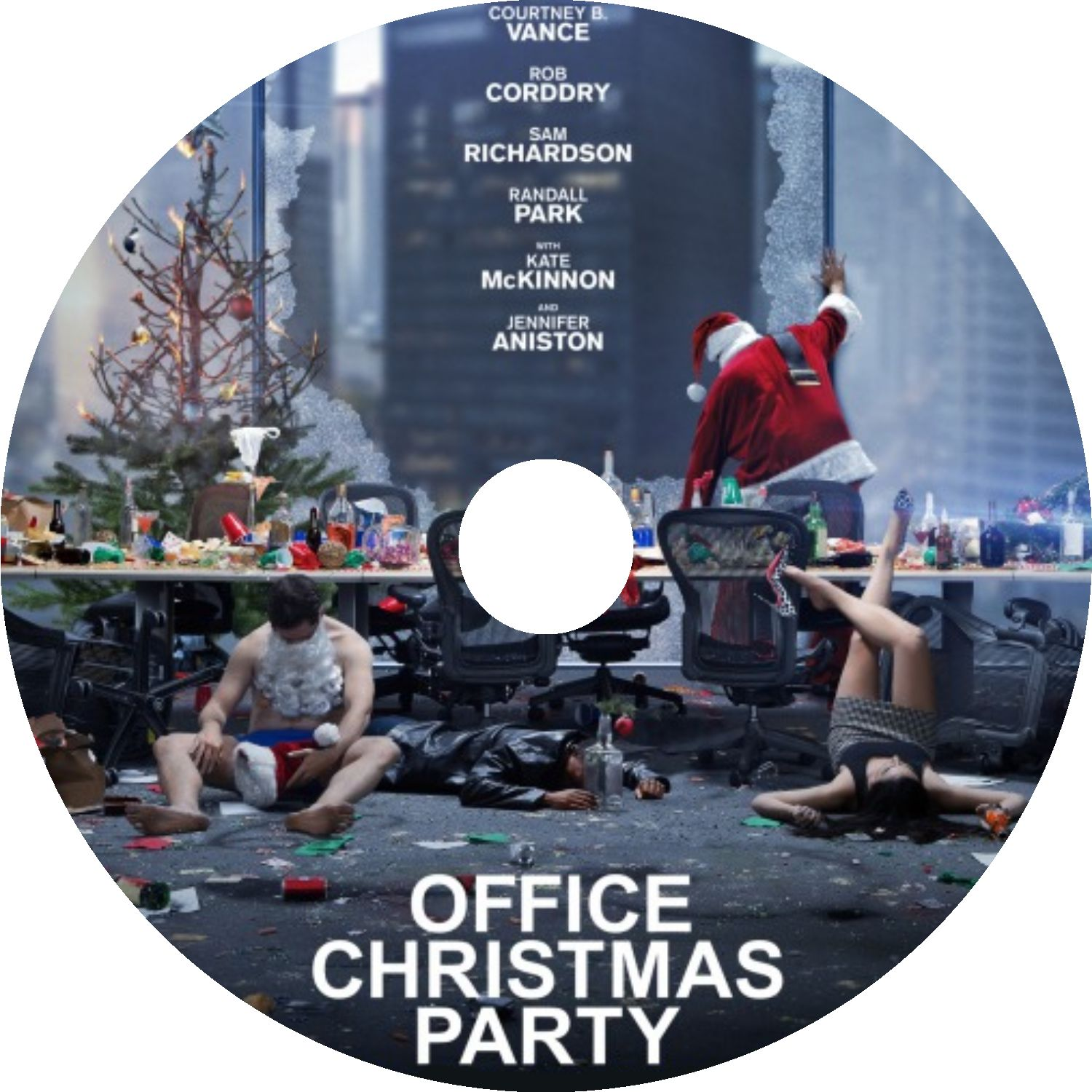 Office Christmas Party (2016) R0 CUSTOM Cover & label | Dvd Covers ...