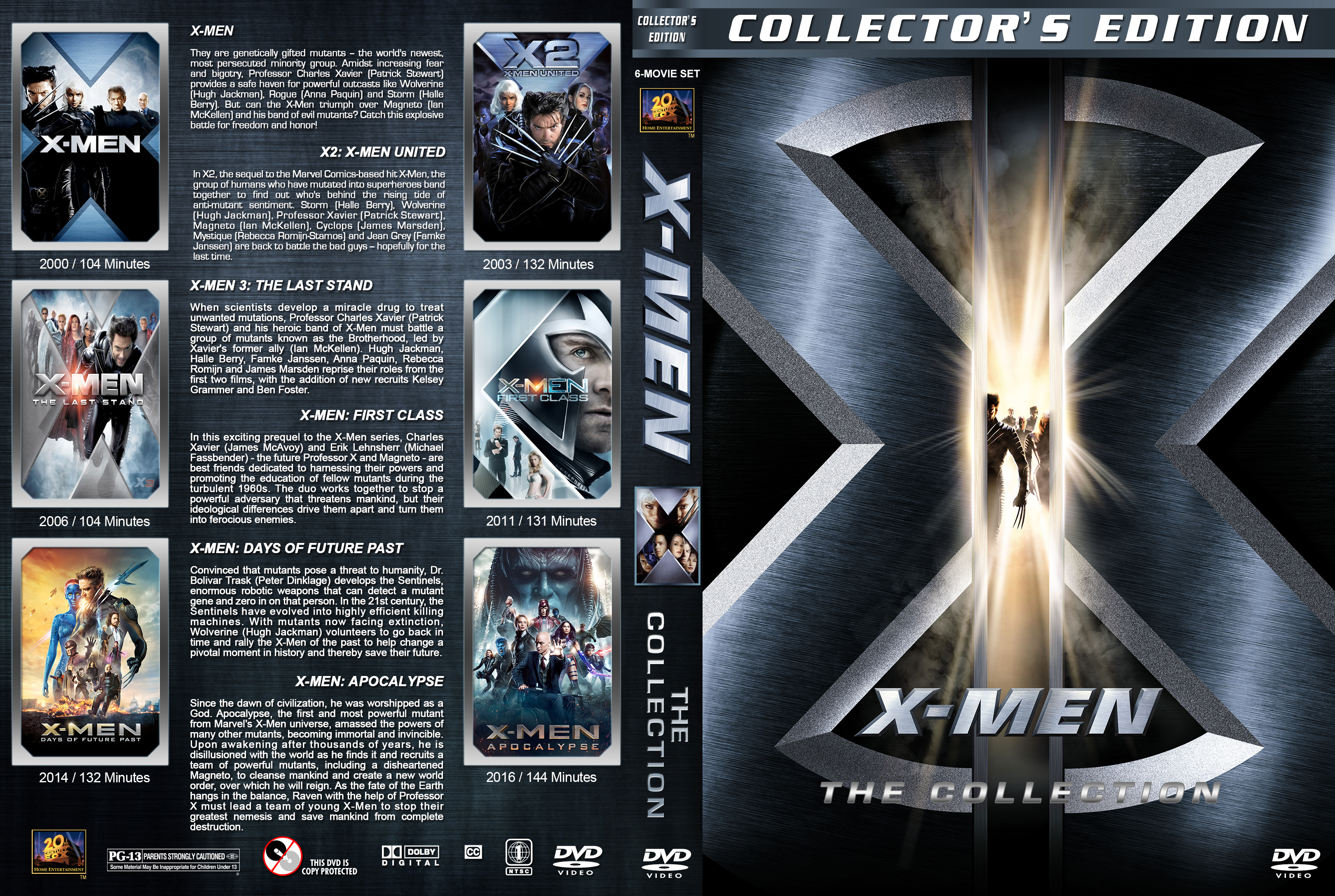 xmen the collection 20002016 covers dvd covers and