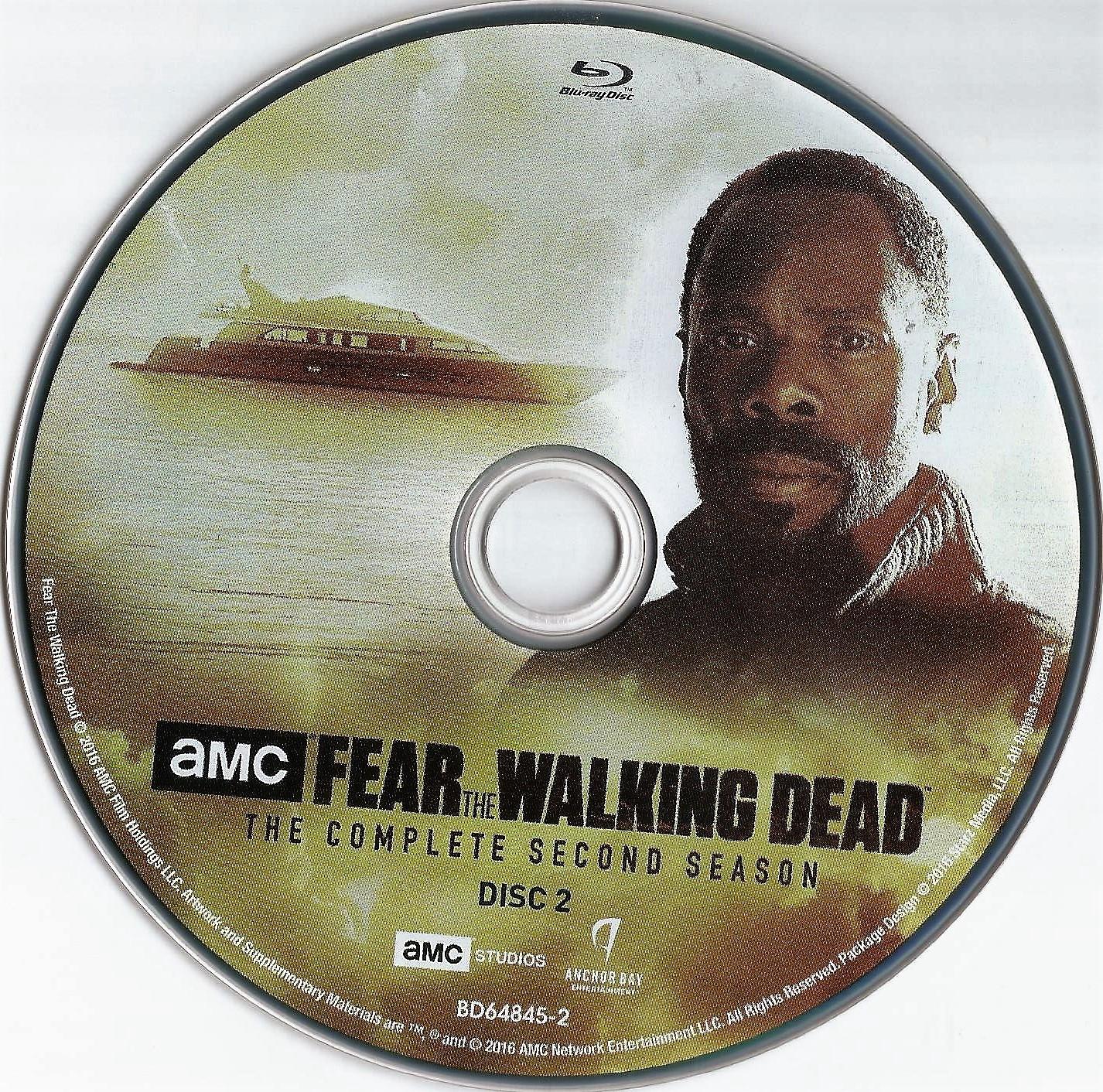 Fear The Walking Dead Season 2 2016 Blu Ray Cover Label