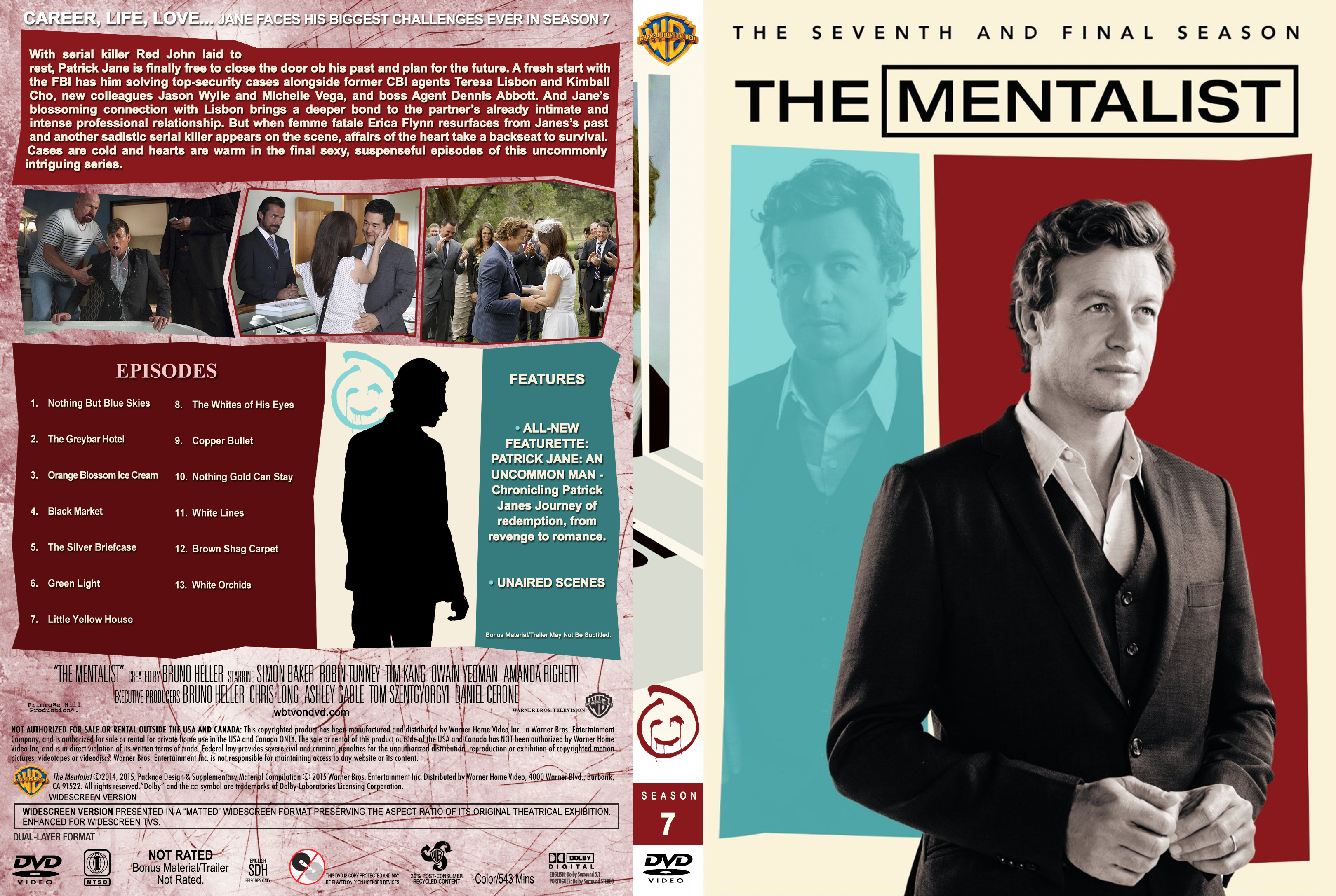 The Mentalist – Season 7 (part of a spanning) Covers | Dvd
