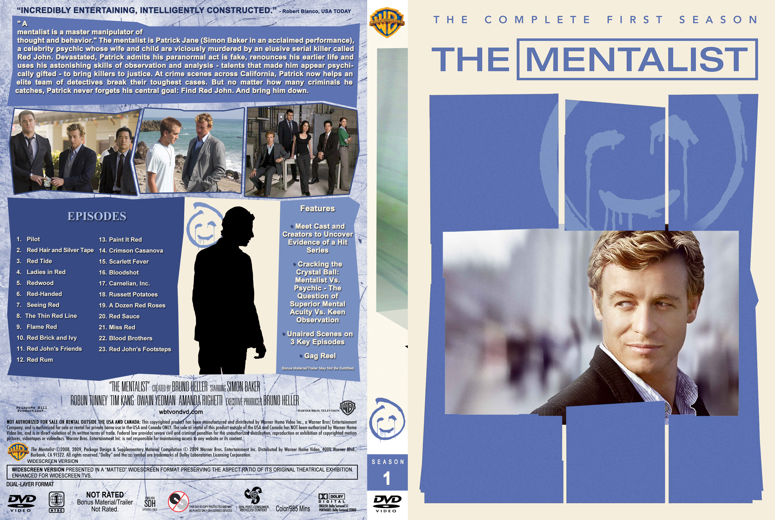 The Mentalist – Season 1 (part of a spanning) (2008) Covers
