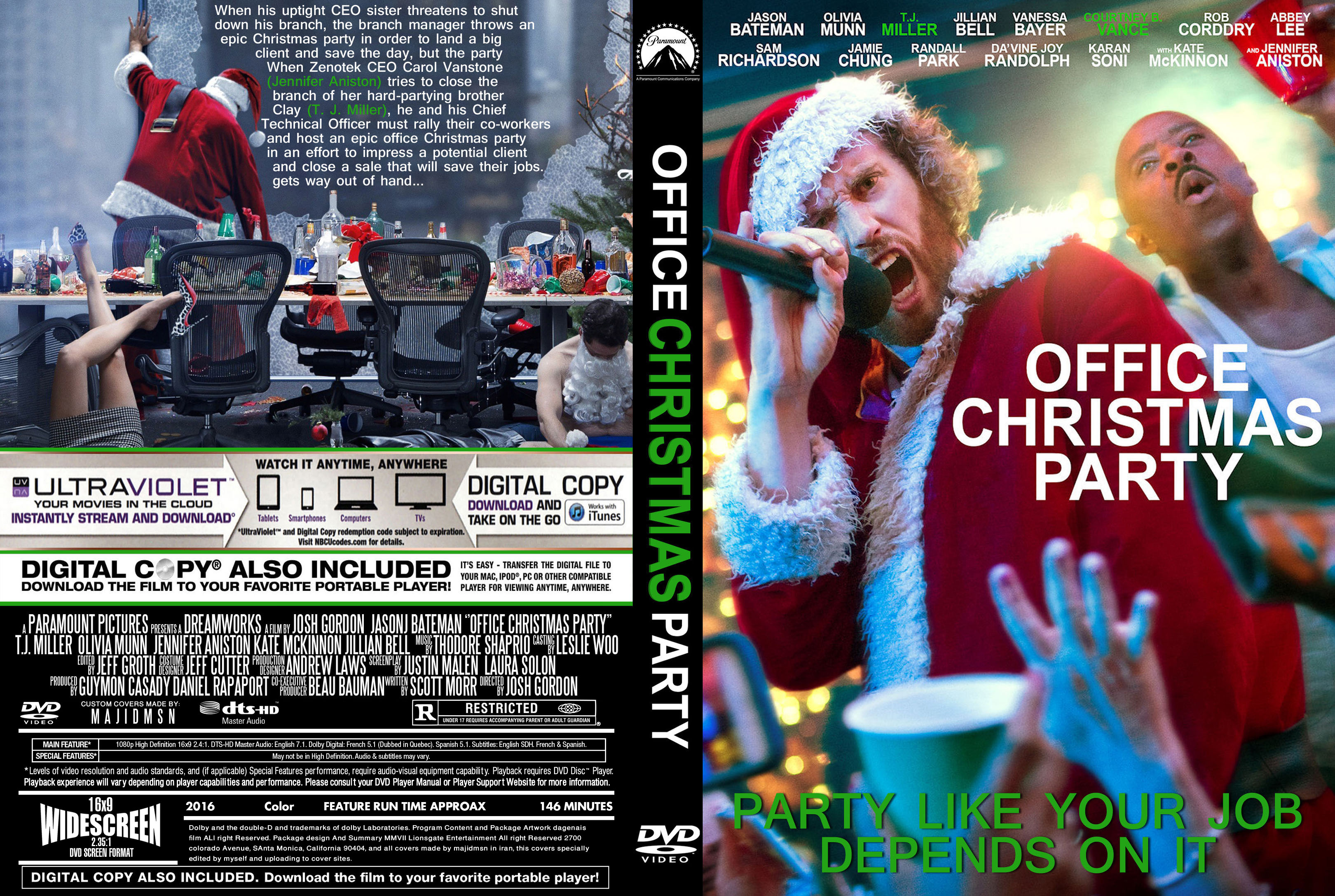 Office Christmas Party (2016) R0 Custom DVD Cover | Dvd Covers and ...