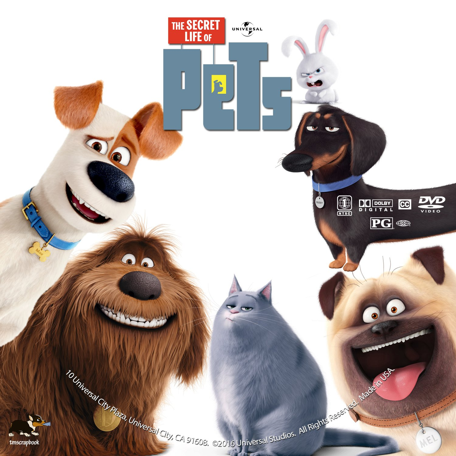 The Secret Life Of Pets 2016 R1 Custom V2 Cover Label Dvd Covers And Labels