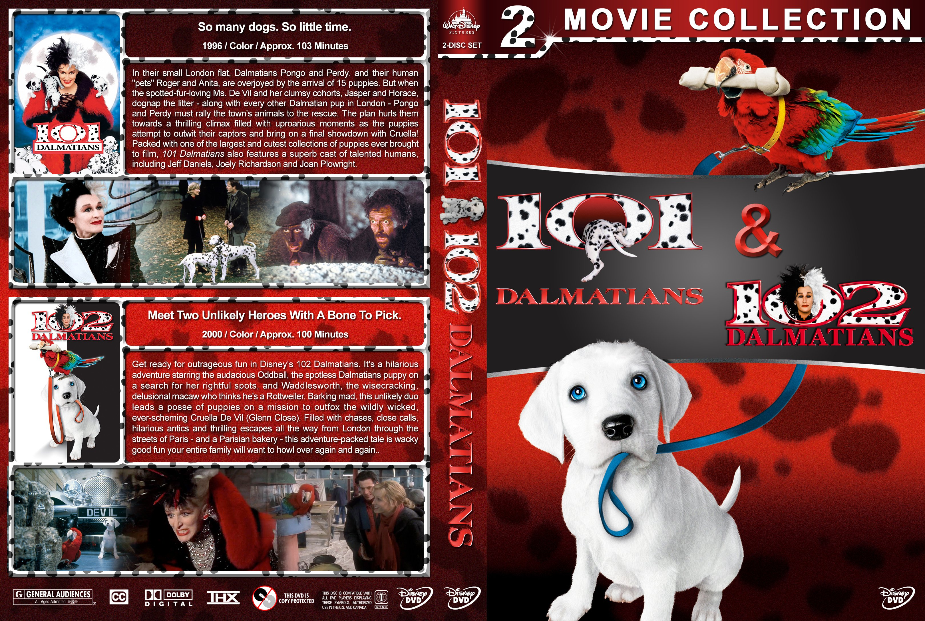 101 102 Dalmatians Double Feature 1996 2000 Covers Dvd Covers And Labels