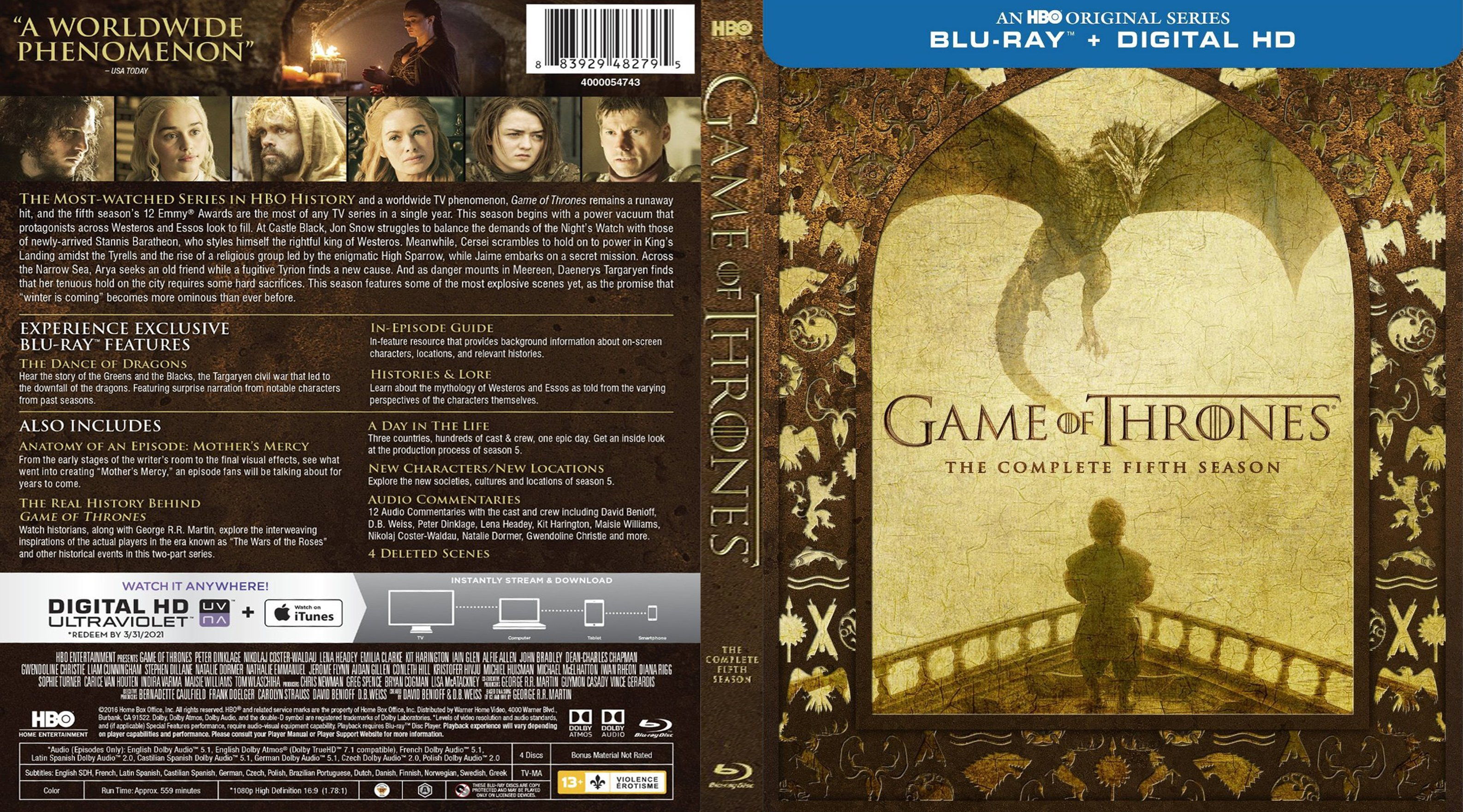 Game of thrones series 5 on dvd / Acqualina resort & spa on