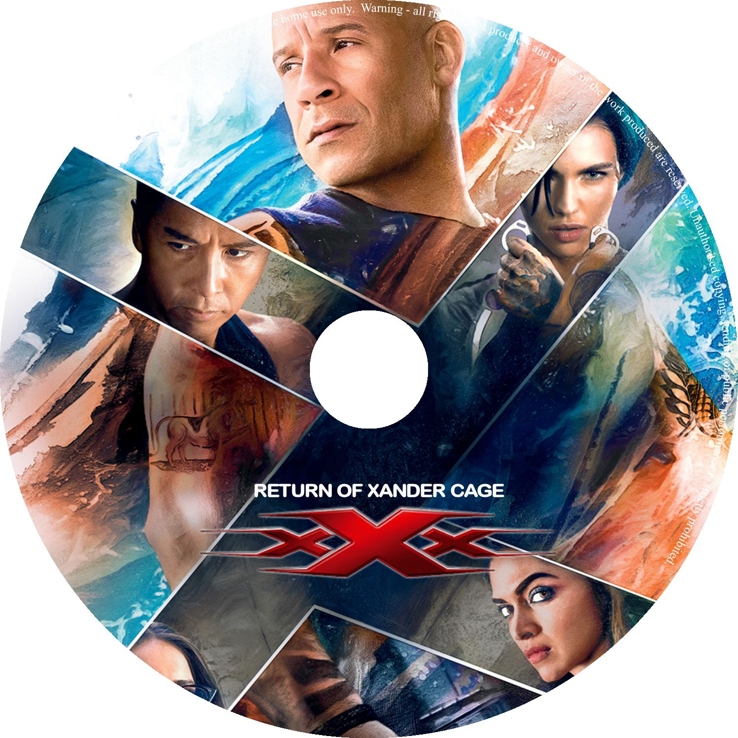 Xxx Return Of Xander Cage 2017 R0 Custom Cover Label Dvd Covers And Labels