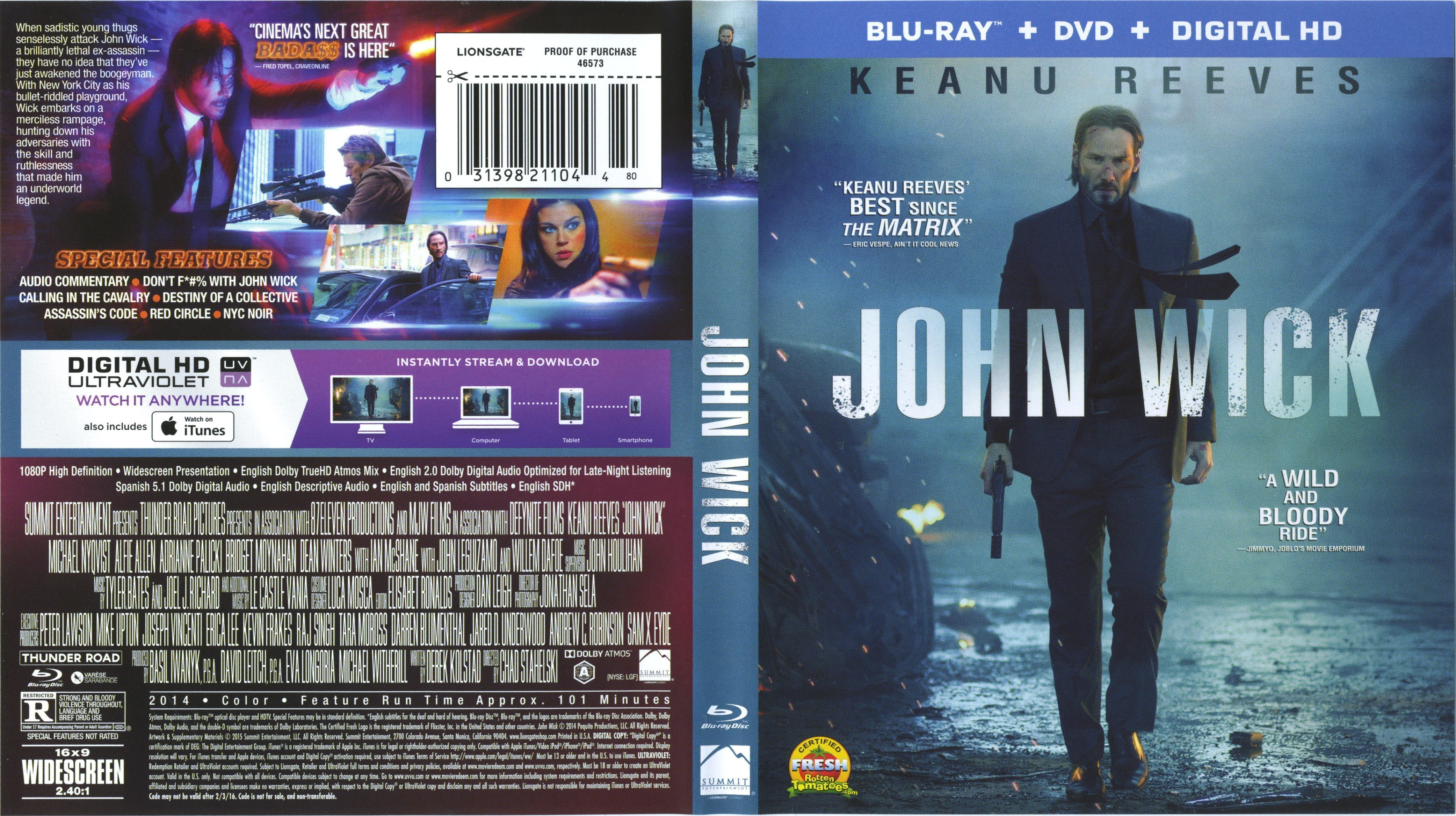 john wick blu ray cover label dvd covers and labels. Black Bedroom Furniture Sets. Home Design Ideas