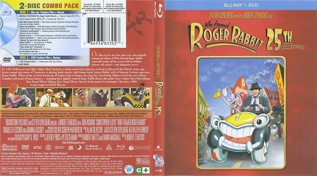 who framed roger rabbit 1988 blu ray cover labels