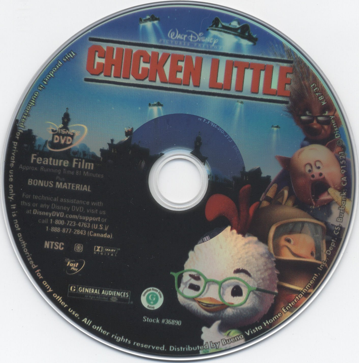 Chicken Little 2005 R1 Dvd Cover Label Dvd Covers And Labels