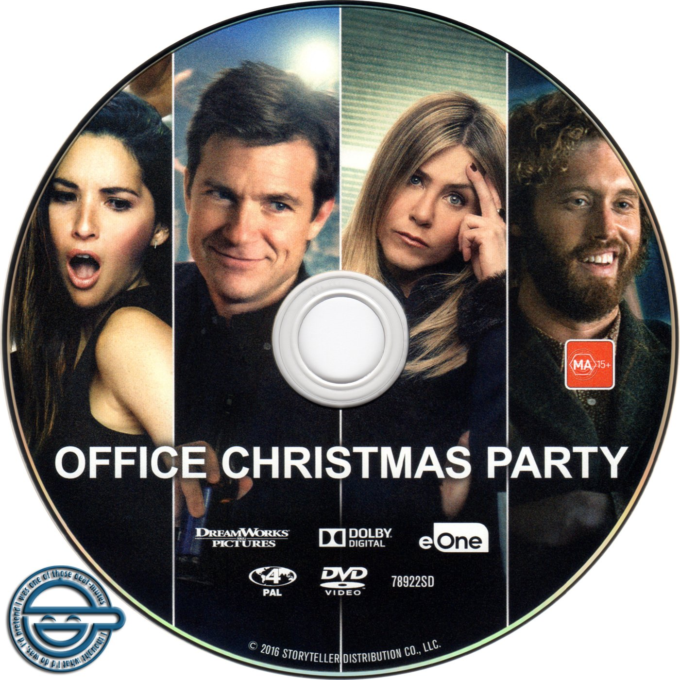 Office Christmas Party (2016) R4 DVD Label | Dvd Covers and Labels