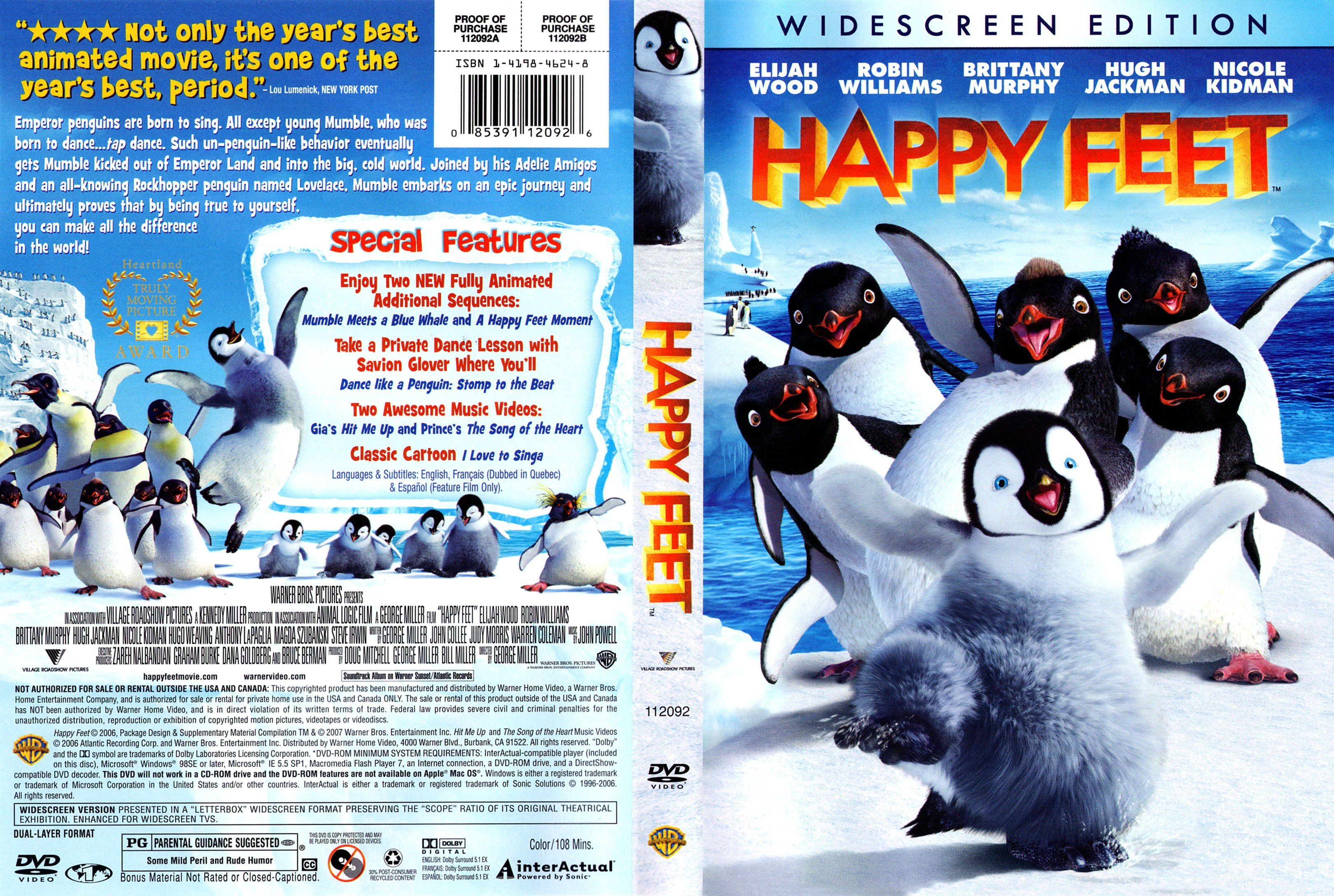 Happy Feet 2006 R1 Dvd Cover Dvd Covers And Labels