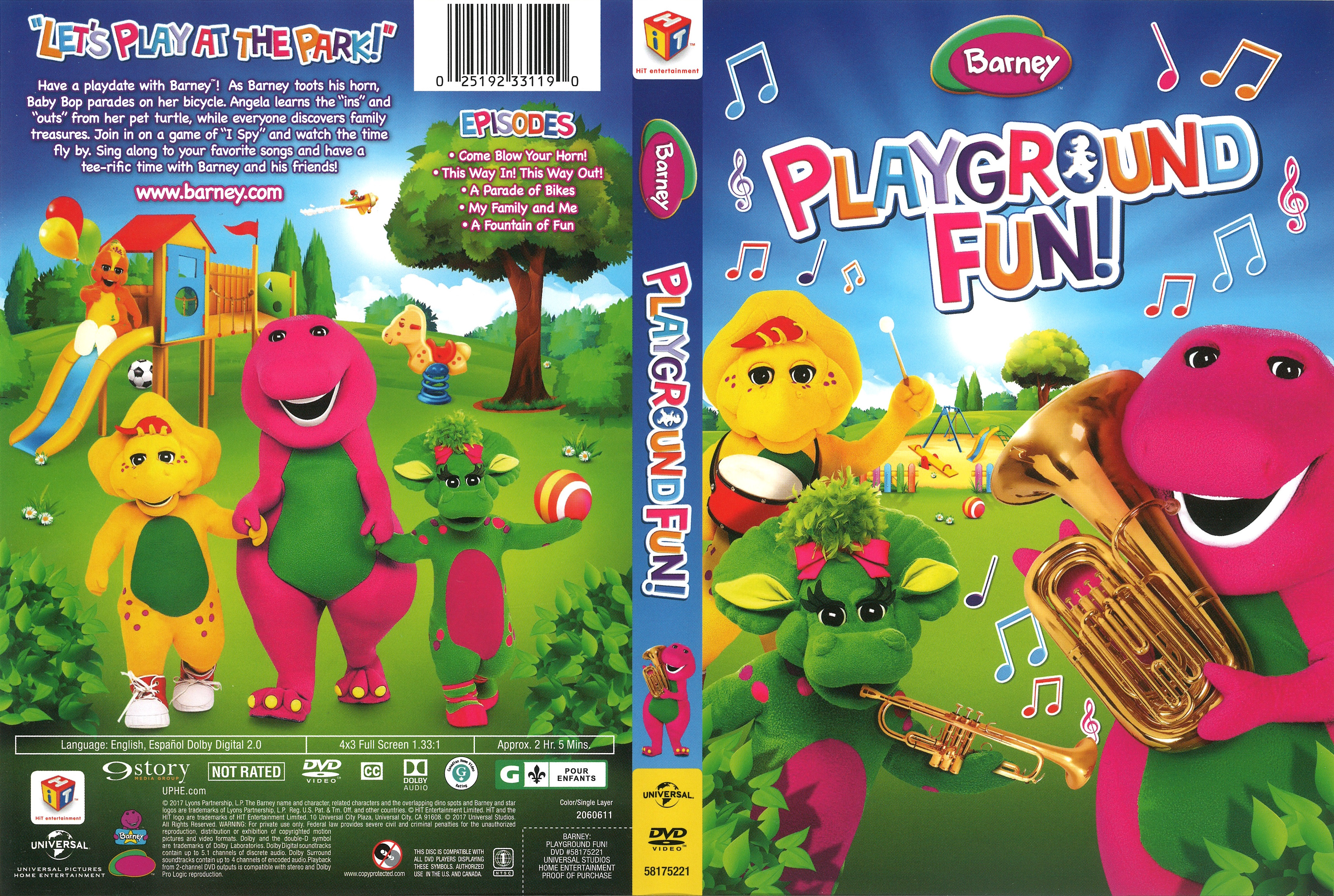Barney Playground Fun (2017) R1 Cover | Dvd Covers and Labels