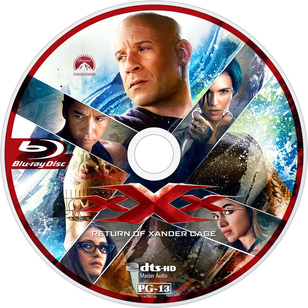 XXx Return Of Xander Cage (2017) R1 Custom Blu-Ray Label