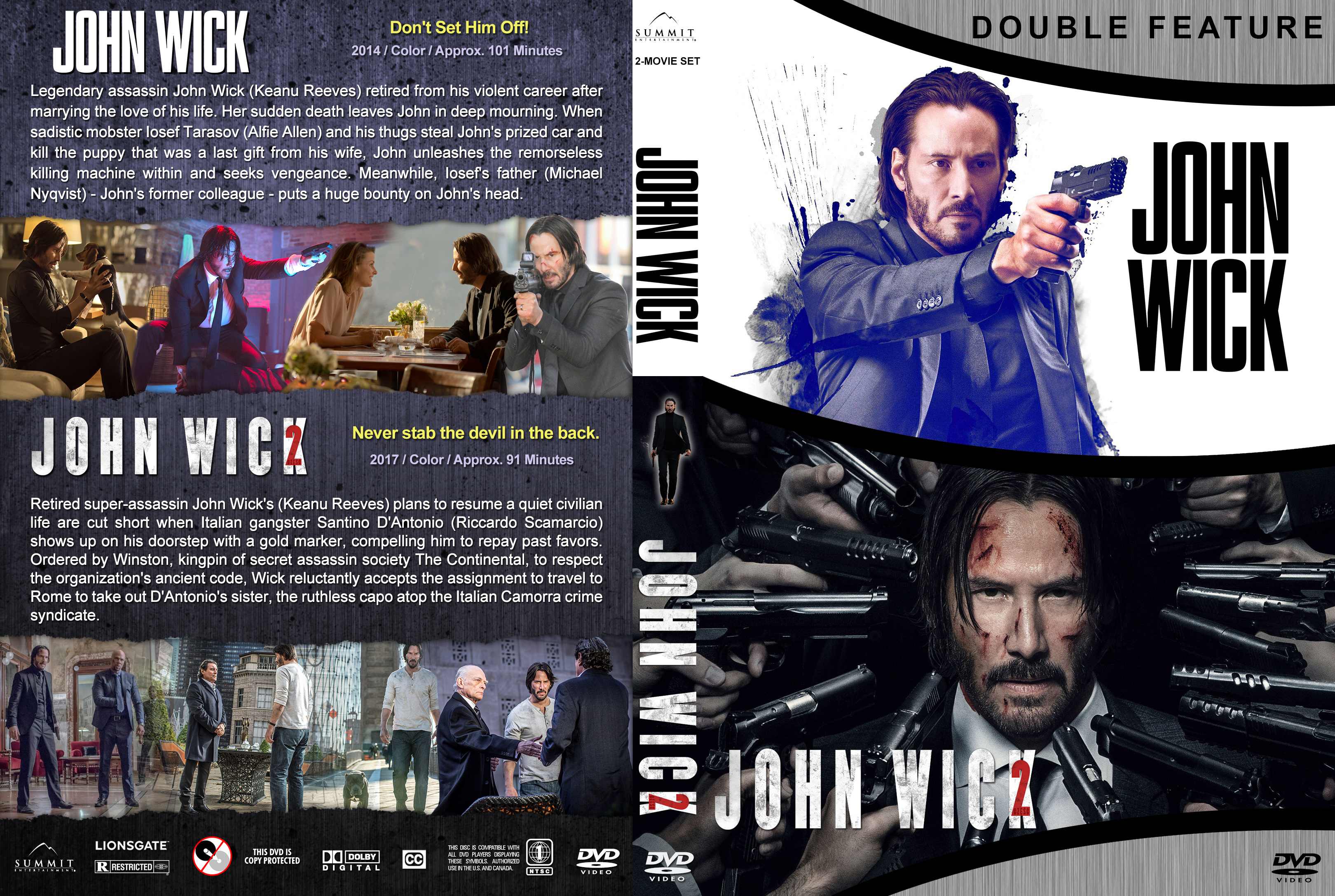 John Wick Double Feature 2017 Covers V3 Dvd Covers