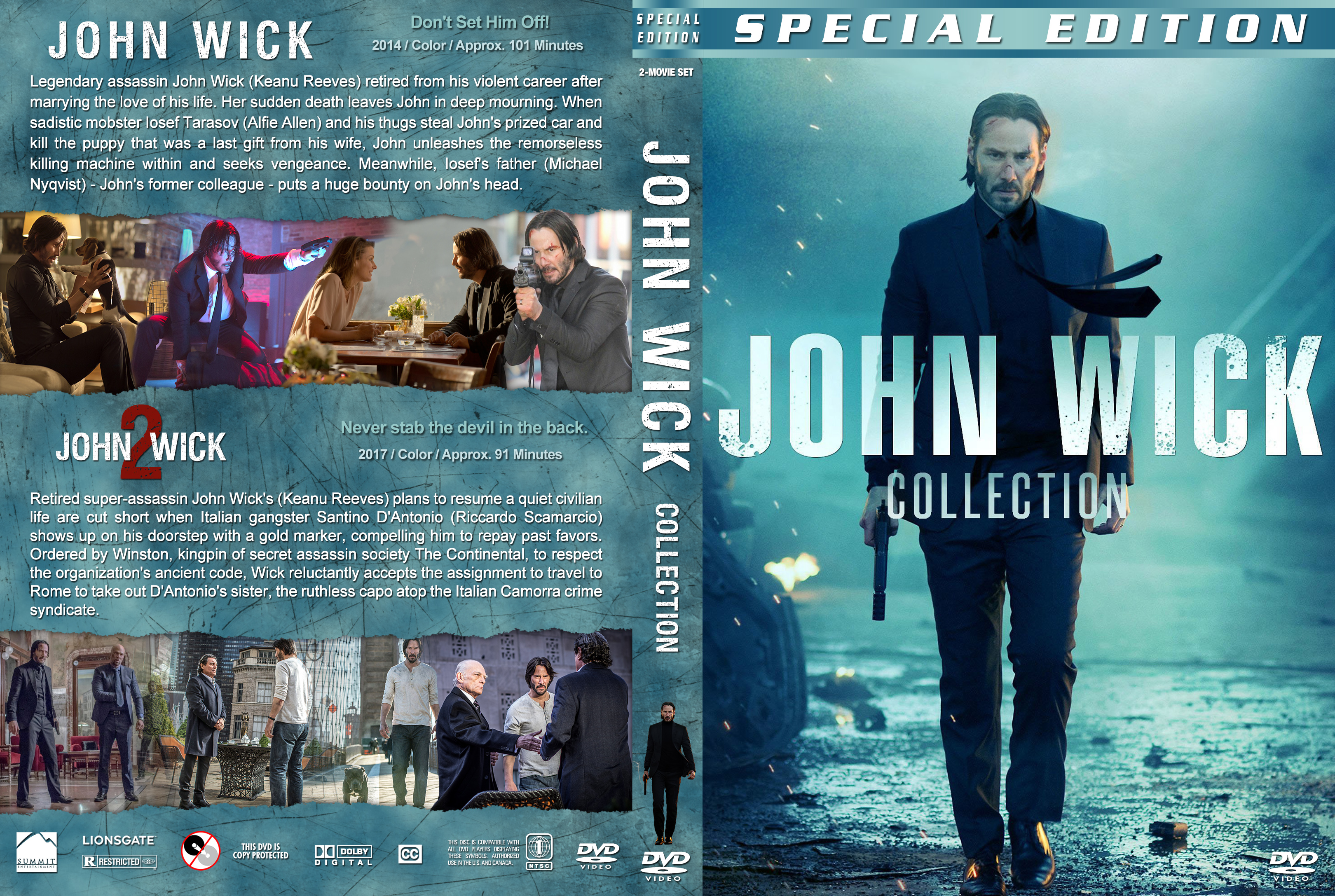 Download John Wick Chapter 2 John Wick Collection 2017 Covers V3 Dvd Covers And Labels