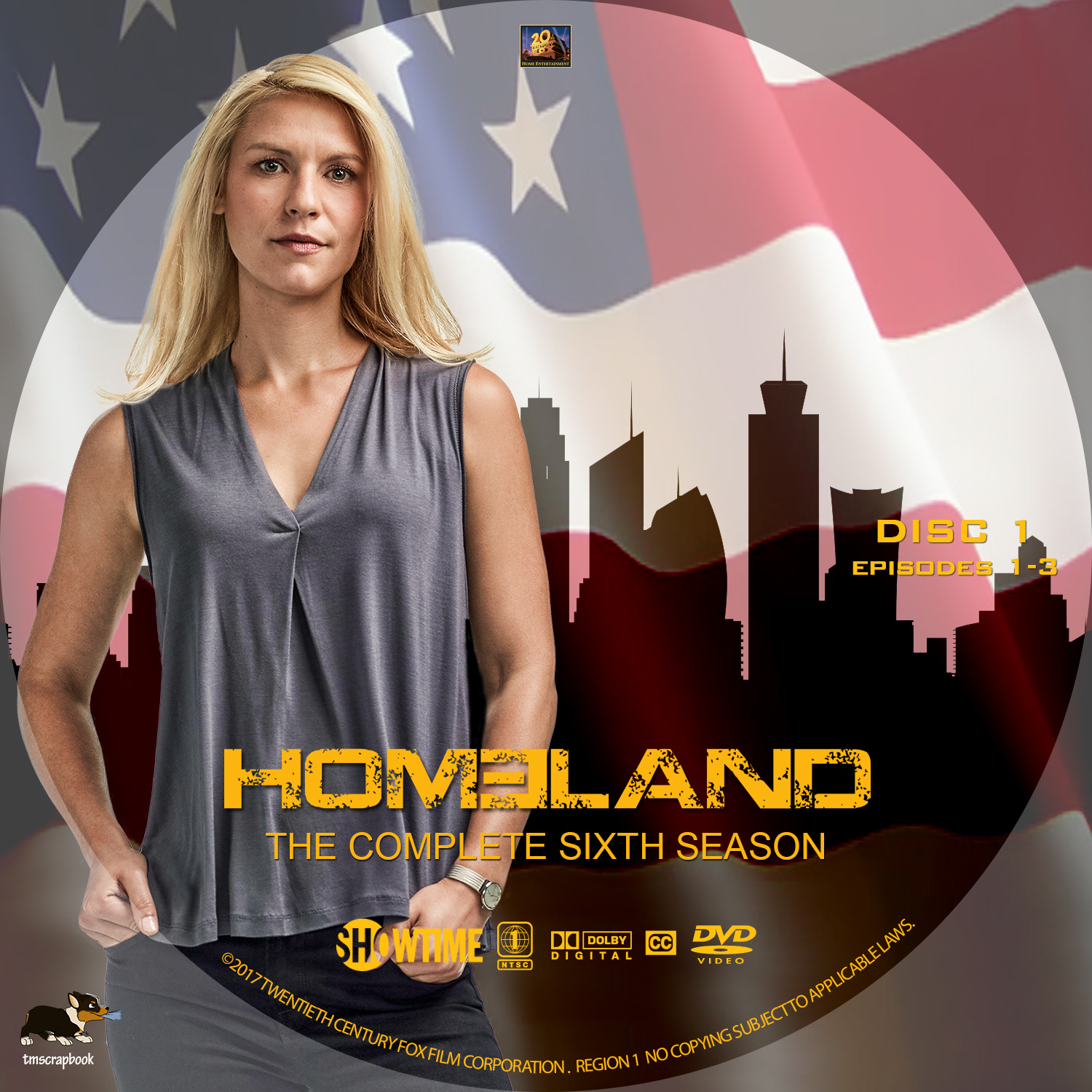 Homeland – Season 6 (2017) Covers & Labels | Dvd Covers and