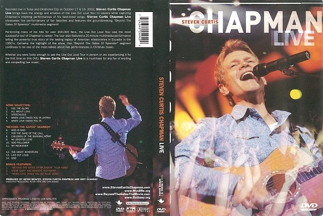 dvd cover Steven Curtis Chapman: Live (2003) R1 DVD Cover