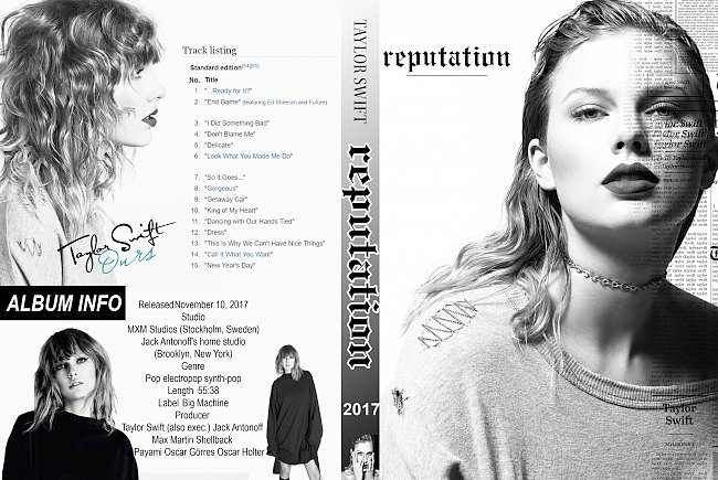 dvd cover Taylor Swift – Reputation (2017) R0 Custom DVD Cover