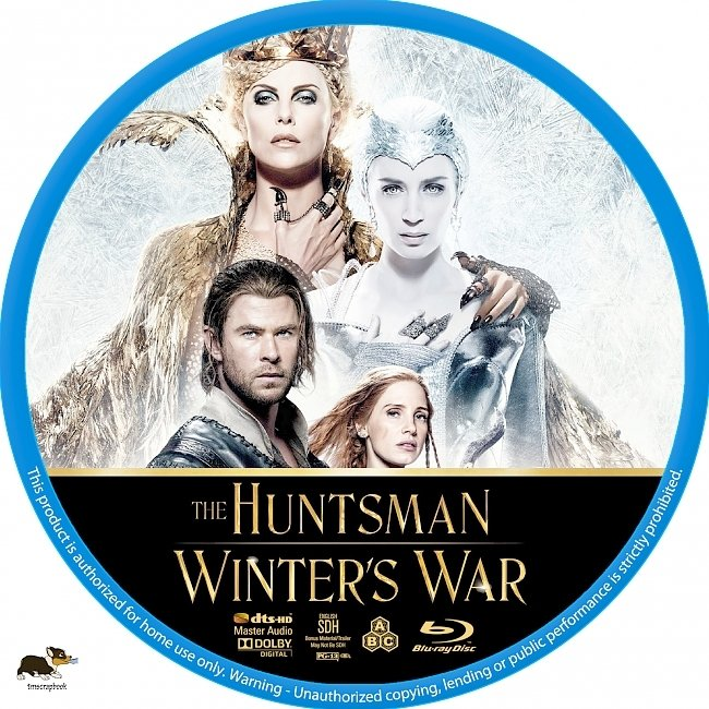 dvd cover The Huntsman: Winter's War (2016) R1 Custom Blu-Ray Label