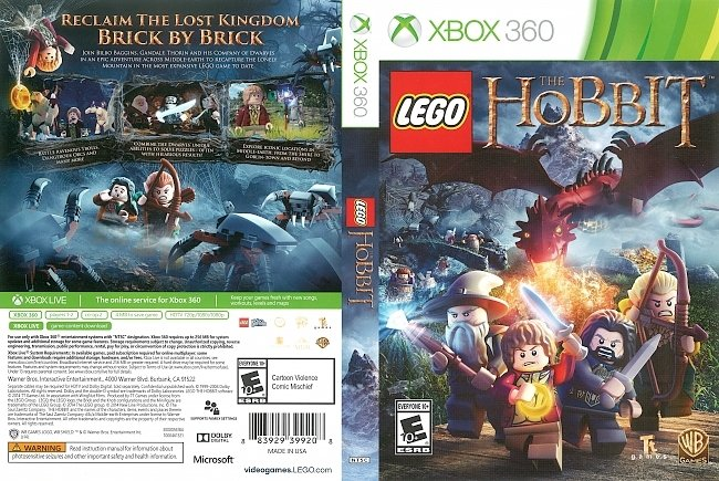 dvd cover Lego The Hobbit (2014) Xbox 360 Cover