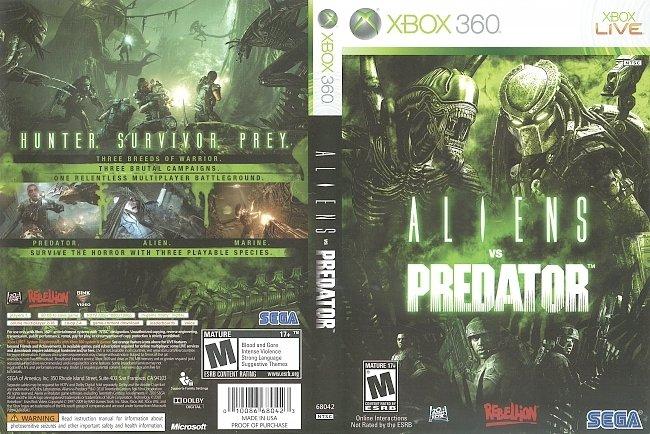 dvd cover Aliens Vs Predator (2010) Xbox 360 Cover