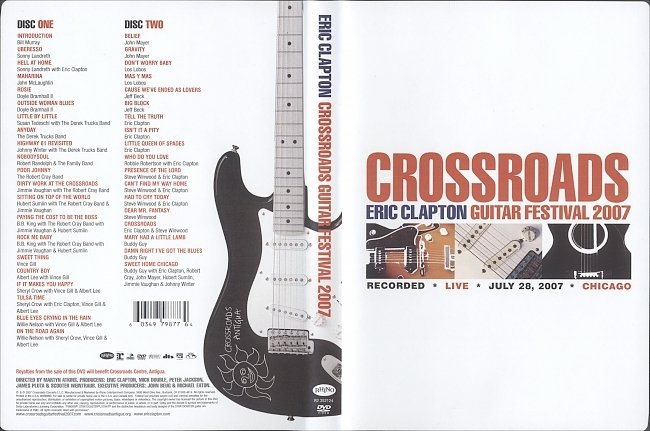 dvd cover Eric Clapton: Crossroads (2007) R1 Cover & Labels