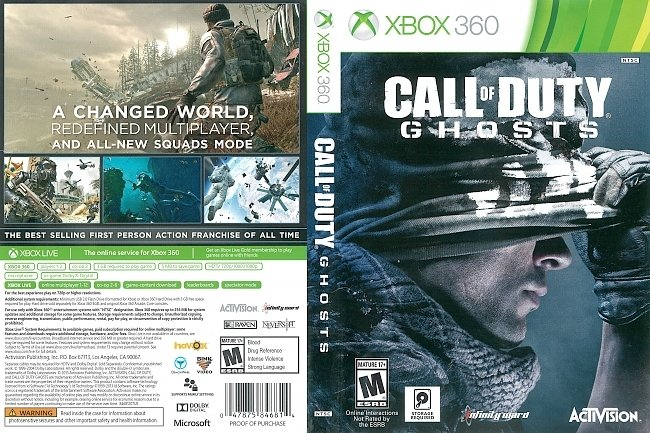 dvd cover Call of Duty: Ghosts (2013) Xbox 360 Cover