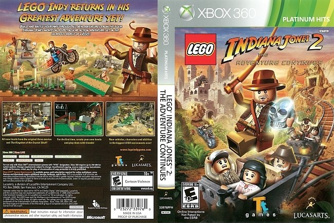 dvd cover Lego Indiana Jones 2: The Adventure Continues (2010) Xbox 360 Cover