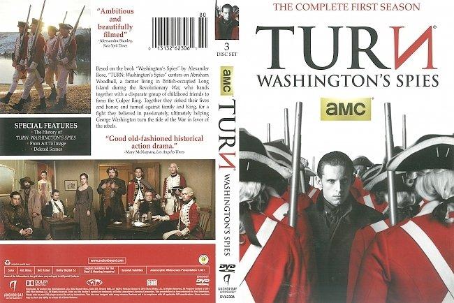 dvd cover Turn: Washington's Spies Season 1 (2015) R1 DVD Cover