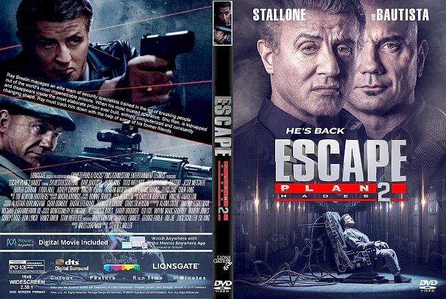 dvd cover Escape Plan 2 : Hades (2018) R1 CUSTOM DVD Cover & Label