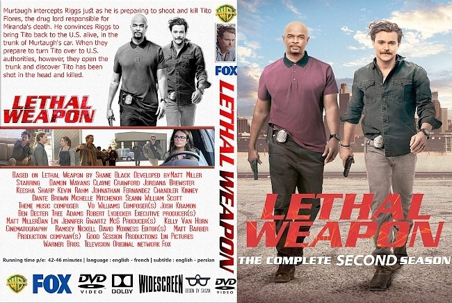 dvd cover Lethal Weapon: Season 2 (2018) R1 Custom DVD Cover