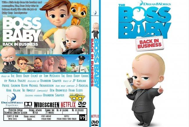 dvd cover The Boss Baby: Back in Business: Season 1 (2018) R0 Custom DVD Cover