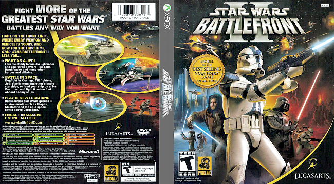 dvd cover Star Wars Battlefront II Classic Xbox Compatible with Xbox One (2004) Covers