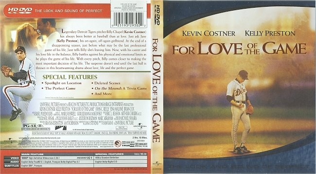 dvd cover For Love Of The Game (1999) R1 HD-DVD Cover & Label