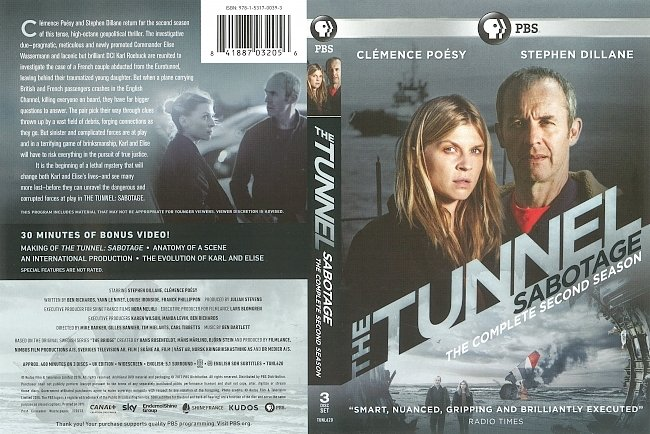 dvd cover The Tunnel Season 2 (2016) R1 DVD Cover