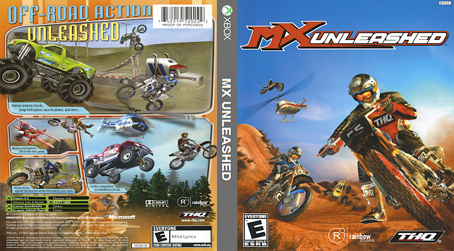dvd cover MX Unleashed Xbox Compatible with Xbox One (2004) Covers