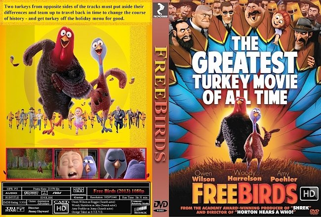 dvd cover Free Birds (2013) HD DVD Custom