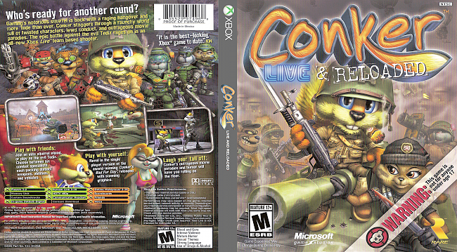dvd cover Conker: Live and Reloaded Xbox Compatible with Xbox One (2005) R1 Cover