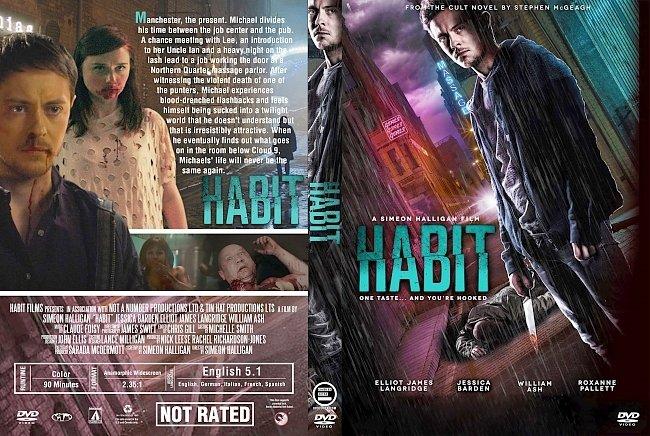 dvd cover Habit (2017) R1 Custom DVD Cover