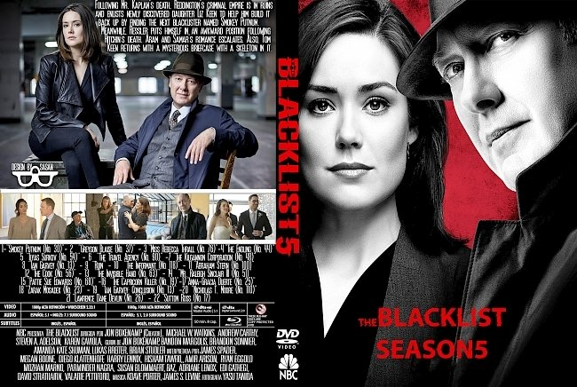 dvd cover The blacklist: Season 5 (2017) R1 Custom DVD Cover