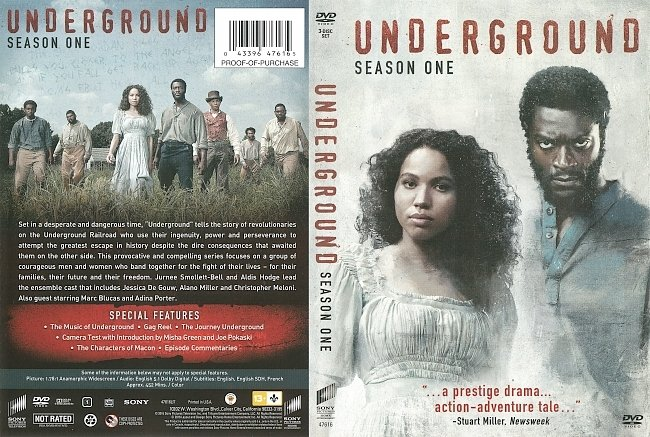 dvd cover Underground Season 1 (2016) R1 DVD Cover