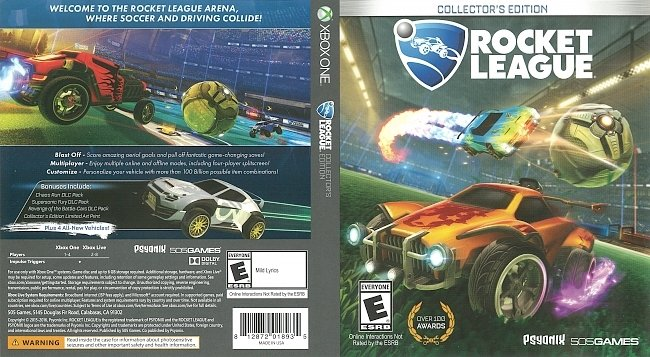 dvd cover Rocket League (2016) Xbox One Cover