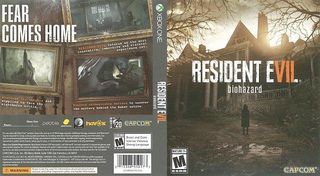 dvd cover Resident Evil 7 Biohazard (2017) Xbox One Cover