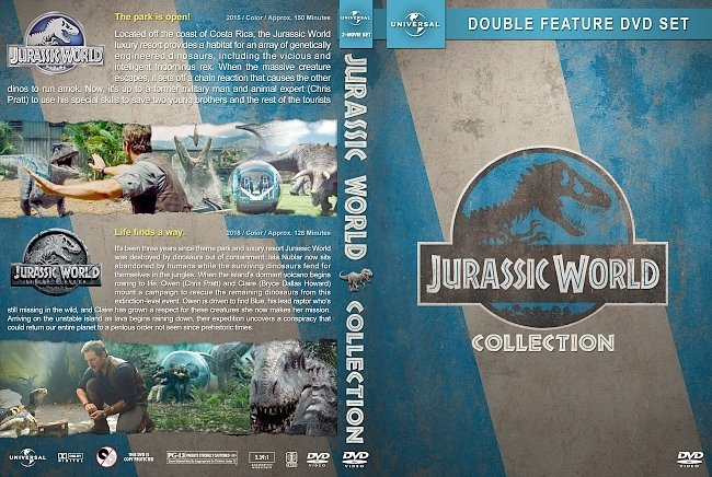 dvd cover Jurassic World Double Feature (2015-2018) R1 Custom DVD Cover