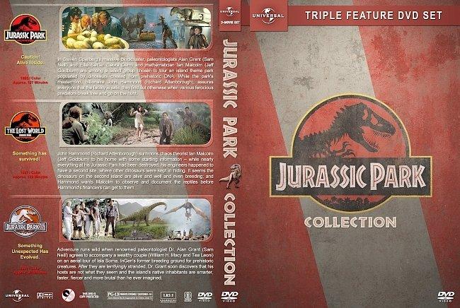 dvd cover Jurassic Park Triple Feature (1993-2001) R1 Custom DVD Cover